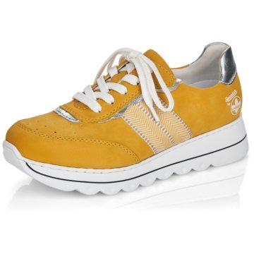 Rieker Sportlicher SchnürschuhSneaker gelb