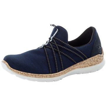 Rieker Komfort SlipperF blau