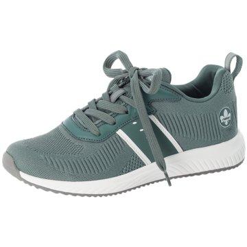 Rieker Sportlicher SchnürschuhSneaker grün