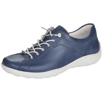 Remonte Komfort Schnürschuh blau
