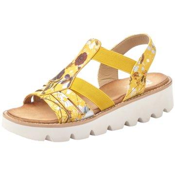 Rieker Komfort Sandale gelb