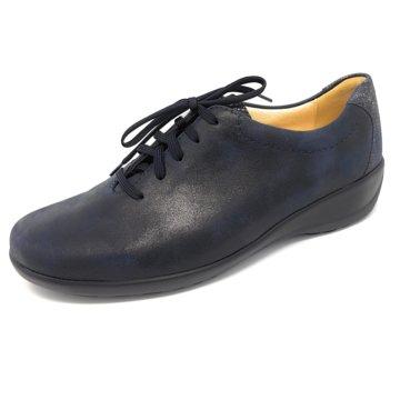 Goldkrone Komfort Schnürschuh blau
