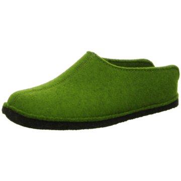 Haflinger HausschuhFlair Smily grün