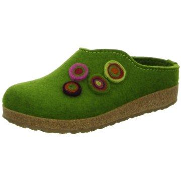 Haflinger HausschuhPantolette grün