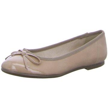 Jana Eleganter Ballerina beige