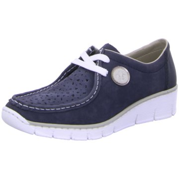 Rieker Komfort Mokassin blau