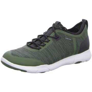 Geox Sportlicher Schnürschuh grün