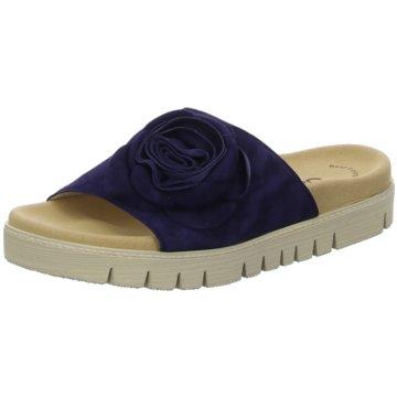 Gabor Plateau Pantolette blau