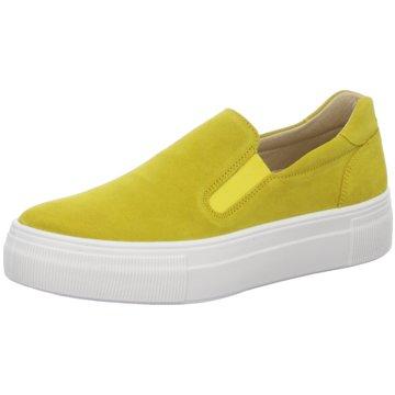 Legero Sportlicher Slipper gelb