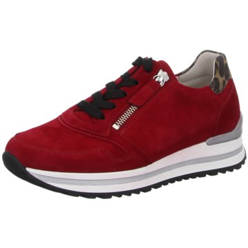 Gabor comfort Bequeme SchnürschuheSneaker rot