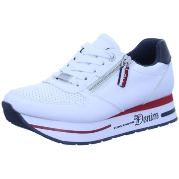 Tom Tailor Plateau Sneaker weiß
