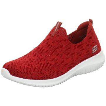 Skechers Sportlicher Slipper rot
