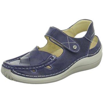 Wolky Komfort Sandale blau