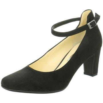 Absatz Pumps Schuhe hinten offen,mit Schnallen,Gabor schwarz,Gr.6