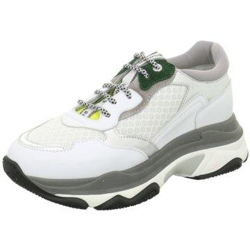 Chris Coo Plateau Sneaker weiß