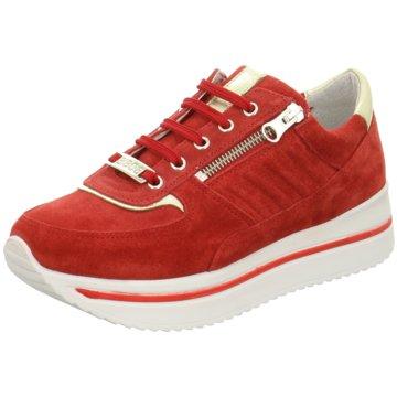 Bibob Plateau Sneaker rot