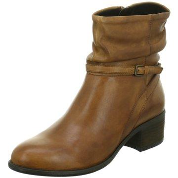 WALK IN THE PARK Damen Schuhe Stiefel Gr 36 Braun Leder Blumen Print NP 319