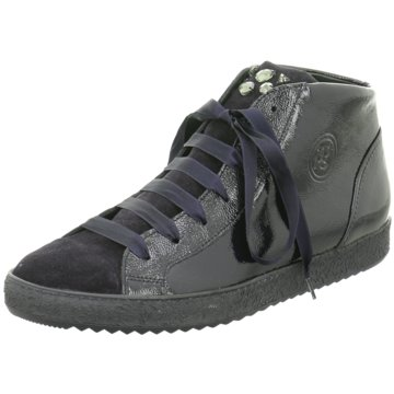 Paul Green Sneaker HighVeloursleder/Lackled blau
