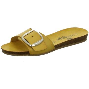 Cosmos Comfort Klassische Pantolette gelb