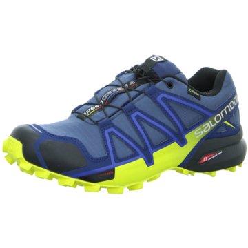 Salomon TrailrunningSpeedcross 4 GTX Herren Trail-Laufschuhe Running blau gelb blau