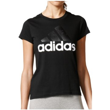 adidas FunktionsshirtsEssentials Linear Slim Tee Women schwarz