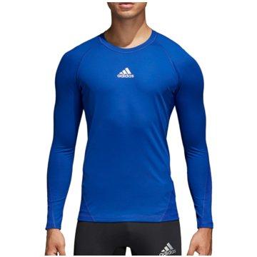 adidas LangarmshirtAlphaskin Sport LS Tee blau