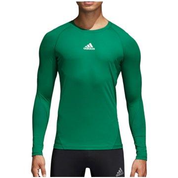 adidas LangarmshirtsAlphaskin Sport LS Tee grün