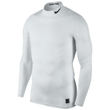 Nike SweaterPro Compression Mock LS Top weiß