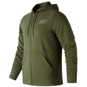 New Balance SweatjackenHeathered Full Zip Hoodie grün