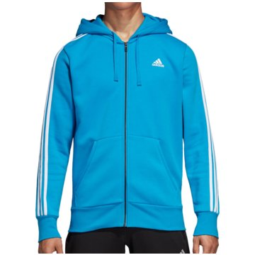 adidas HoodiesEssentials 3S FZ Hoody Fleece Brushed blau