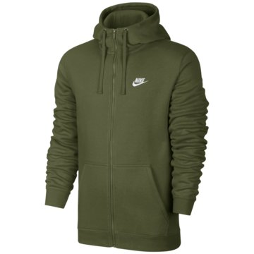 Nike SweatjackenSportswear FZ Fleece Club Hoodie grün