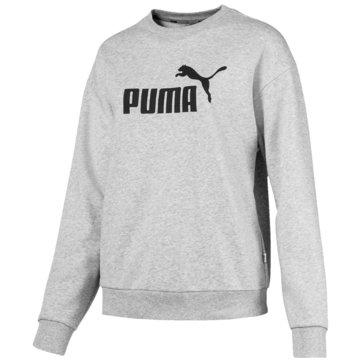 Puma HoodiesEssentials Logo Crew Sweat Women grau