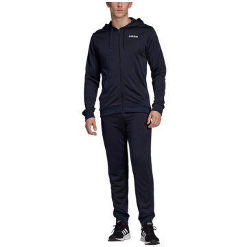 adidas TrainingsanzügeMTS LIN FT HOOD - DV2450 blau