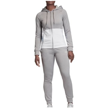 adidas TrainingsanzügeTracksuit Linear French Terry Hood Women grau