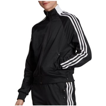 adidas TrainingsjackenID 3-Stripes Snap Tracktop Women schwarz