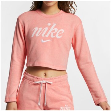 Nike SweatshirtsSportswear Washed Crop Crew Women rosa
