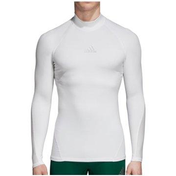 adidas FunktionsshirtsAlphaskin Sport Climawarm Longsleeve weiß