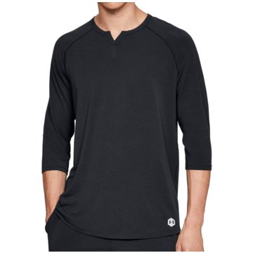 Under Armour UntershirtsAthlete Recovery Sleepwear 3/4 Sleeve Henley Shirt schwarz