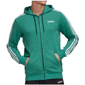 adidas HoodiesEssentials 3S FZ Hoody French Terry grün