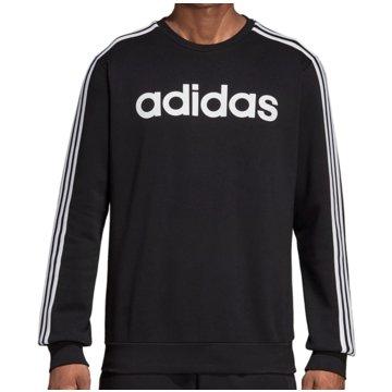 adidas SweatshirtsEssentials 3-Stripes Fleece Crew schwarz