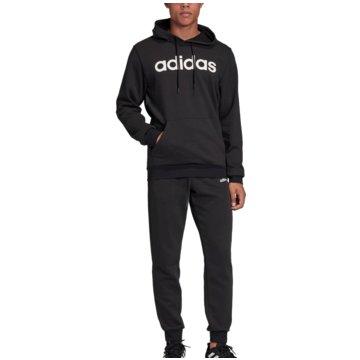 adidas TrainingsanzügeTracksuit Cotton Hooded schwarz