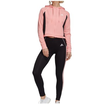 adidas TrainingsanzügeTrack Suit Hoodie and Tights Women rosa