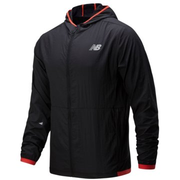 New Balance LaufjackenPrinted Impact Run Light Pack Jacket schwarz