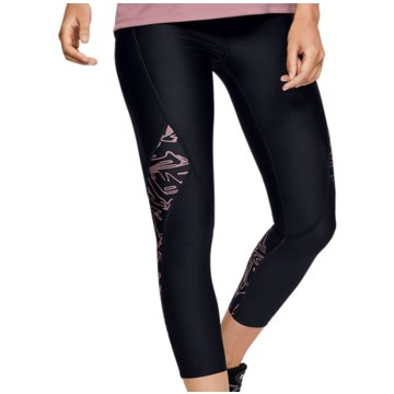 Under Armour 3/4 SporthosenHeatGear Printed Crop Tight Women schwarz