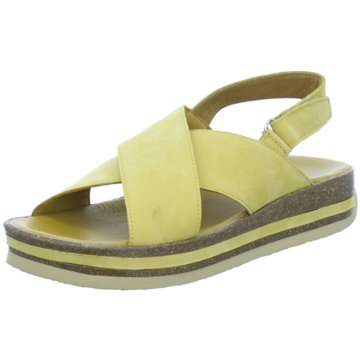 Think Plateau Sandalette gelb