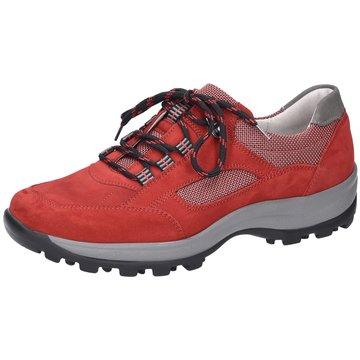 Waldläufer Komfort Schnürschuh rot