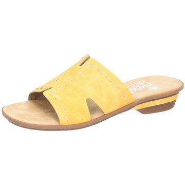 Rieker Klassische PantolettePantolette gelb