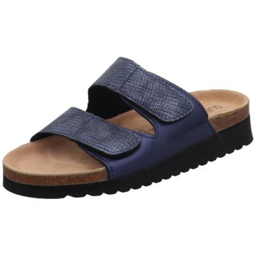 Indigo Komfort Pantolette blau