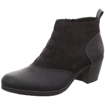 Rieker Komfort Stiefelette schwarz