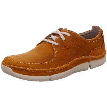 Clarks Klassischer SchnürschuhSneaker braun